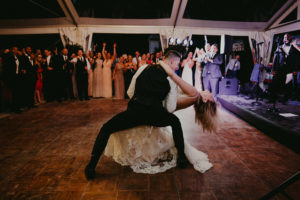 Black tie wedding at the Mount